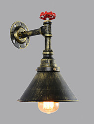 cheap -Loft Vintage Industrial Style Wall Sconce Living Room Restaurant and Bar Metal Water Pipe Wall lamp