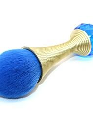 1pç Pincel para Blush Fibra Sintética Pêlo Sintético Cobertura Total Alumínio Blush