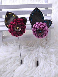 cheap -Men's / Women's Brooches - Flower Simple Brooch Purple / Pearl Pink / Wine For Wedding / Party