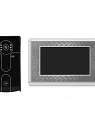 cheap -Wired 7 Video Door Phone Intercom Entry System with ID Card Unlocking
