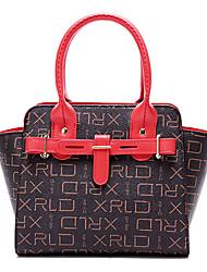 abordables -Mujer Bolsos PU Tote Diseño / Estampado para Formal Oficina y carrera Todas las Temporadas Rojo Beige