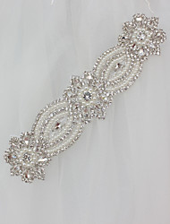 abordables -Polyester/Coton Mariage Occasion spéciale Ceinture With Strass Appliques Femme Ceintures