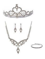 preiswerte -Damen Strass Diamantimitate Schmuck-Set Körperschmuck 1 Halskette Ohrringe - Modisch Europäisch Schleifenform Ketten Braut-Schmuck-Sets