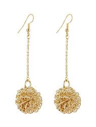 abordables -Mujer Pendientes colgantes / cuelga los pendientes - Plateado, Chapado en Oro Bola Vintage, Bohemio, Moda Dorado / Plata Para Fiesta / Regalo