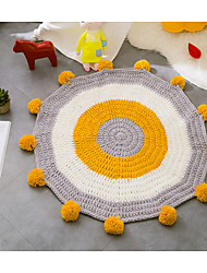 Creative Modern Poly/Cotton,Superior Quality Round Color Block Rug