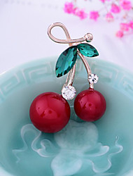 cheap -Women's Lovely Rhinestone / Imitation Pearl Brooches - Fruit / Sweet Irregular Red Brooch For Christmas / Wedding