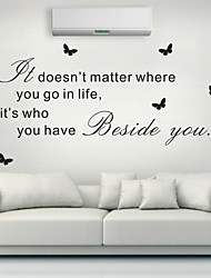 cheap -AYA™ DIY Wall Stickers Wall Decals, English Words & Quotes PVC Wall Stickers