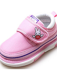 cheap -Baby Shoes Fabric Winter Fall First Walkers Comfort Flats Walking Shoes Magic Tape for Casual Dark Blue Pink Light Blue
