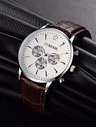 cheap -Men's Quartz Wrist Watch Chinese N / A Leather Band Casual Dress Watch Minimalist Fashion Cool Black Brown