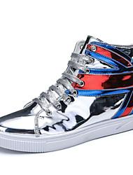 abordables -Homme Chaussures Matières Personnalisées Automne Confort Basket pour Décontracté De plein air Noir Argent Rouge