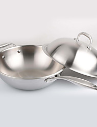 cheap -Stainless Steel Stainless Steel Flat Pan Multi-purpose Pot,32*9.5