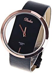 Недорогие -Жен. Наручные часы Китайский Повседневные часы / Cool Кожа Группа На каждый день / Мода / минималист Черный / Белый / Красный / Один год