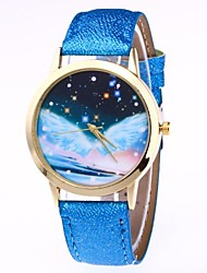cheap -Women's Quartz Wrist Watch Chinese Moon Phase PU Band Colorful Black White Blue Brown Green Pink Rose