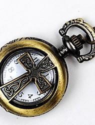 Недорогие -Для пары Кварцевый Карманные часы Китайский С гравировкой Повседневные часы сплав Группа Роскошь Винтаж На каждый день Бронза