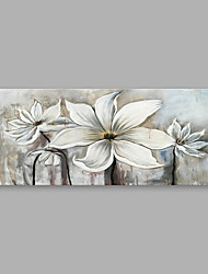 cheap -Oil Painting Hand Painted - Floral/Botanical Modern Canvas