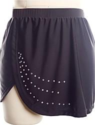 baratos -Vestidos para Patinação Artística Mulheres Patinação no Gelo Saias Preto Elastano Sem Elasticidade Espetáculo / Praticar Roupa para