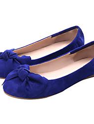 economico -Per donna Scarpe Tessuto Primavera / Autunno Comoda / Moccasino Ballerine Zero Piatto Punta tonda Zero Fiocco Rosso / Blu / Borgogna