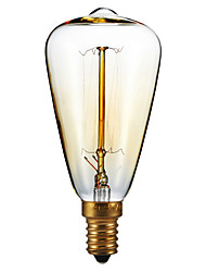 cheap -E14 40W St48 Yellow Light Bulb Edison Small Screw Cap Retro Chandelier Decorative Light Bulbs