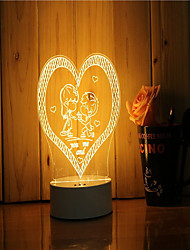 cheap -1 Set Of 3D Mood Night Light Hand Feeling Dimmable USB Powered Gift Lamp Propose