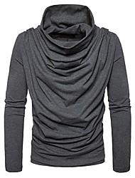 preiswerte -Herren Standard Pullover-Alltag Freizeit Solide Rollkragen Langarm Polyester Elasthan Winter Herbst Dick Mikro-elastisch