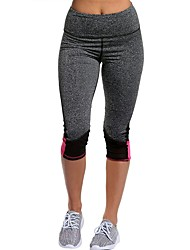 cheap -Yoga Pants 3/4 Tights Breathability Natural Stretchy Sports Wear Women's Yoga Pilates Exercise & Fitness Running