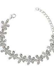 abordables -Femme Strass Gemme Adorable Flocon de Neige Chaînes & Bracelets - Rétro Mode Or Argent Bracelet Pour Cadeau Quotidien