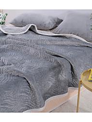 baratos -Velocino de Coral,Jacquard 3D (padrão de aleatório) Poliéster / Poliamida cobertores