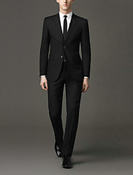 cheap -Men's Casual/Daily Simple Fall Regular Suits,Solid Shirt Collar Cotton Polyester