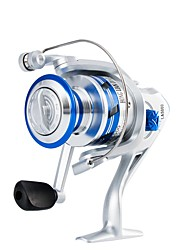 cheap -Fishing Reel Spinning Reel 5.21 Gear Ratio+10 Ball Bearings Hand Orientation Exchangable Sea Fishing Bait Casting Ice Fishing Spinning
