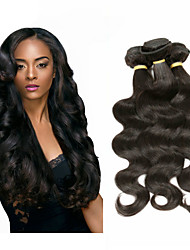 cheap -Malaysian Hair Body Wave Remy Human Hair Natural Color Hair Weaves 6 Bundles Human Hair Weaves Natural Black Human Hair Extensions
