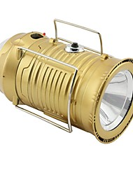 cheap -Lanterns & Tent Lights Emergency Lights LED 150 lm Automatic Mode LED Form Fit Camping/Hiking/Caving Gold