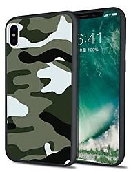 Недорогие -Кейс для Назначение Apple iPhone X / iPhone 8 Plus С узором Кейс на заднюю панель Камуфляж Мягкий ТПУ для iPhone X / iPhone 8 Pluss / iPhone 8