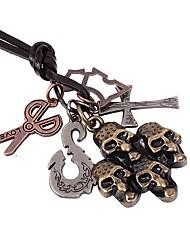 Недорогие -Муж. Ожерелья с подвесками - Крест, Череп, Ножницы Камни, Готика, Мода Бронзовый Ожерелье 1 Назначение Для улицы, Праздники