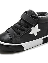Para Meninos sapatos Couro Ecológico Inverno Outono Conforto Tênis para Casual Preto Cinzento