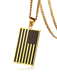 cheap -Men's Cool Stainless Steel Pendant - Casual / Fashion Gold Geometric Pendant For Daily / Formal