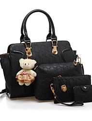 economico -Donna Sacchetti PU (Poliuretano) sacchetto regola Set di borsa da 4 pezzi A fantasia / stampa per Matrimonio Serata/evento Tutte le