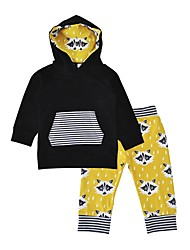 cheap -Baby Boys' Daily Holiday Simple Clothing Set, Cotton Winter Fall Casual Long Sleeves Black