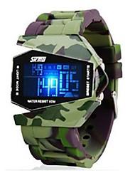 Недорогие -SKMEI Для пары Спортивные часы Цифровой 50 m Защита от влаги Календарь Фосфоресцирующий сплав Группа Цифровой Роскошь На каждый день Мода Белый / Серый / Розовый - Зеленый Синий Розовый