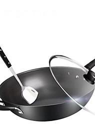 economico -Lega di alluminio Plastica Piatto Pan Pot multiuso,34*9