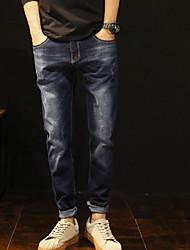 cheap -Men's Vintage Jeans Pants - Solid