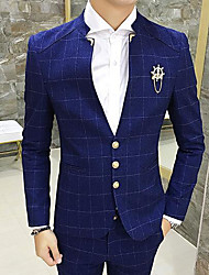 Men's Casual/Daily Work Casual Winter Fall Blazer