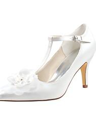 preiswerte -Damen Schuhe Stretch - Satin Frühling Herbst Pumps Hochzeit Schuhe Stöckelabsatz Spitze Zehe Kristall Applikationen für Kleid Party &