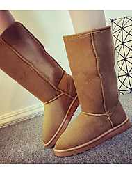 cheap -Women's Shoes Suede Winter Fall Comfort Snow Boots Boots Flat Heel Mid-Calf Boots for Casual Camel Blue Brown