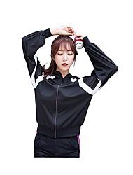 economico -Per donna T-shirt da corsa Manica lunga Fitness Top per Esercizi di fitness Corsa Nylon Elastene Bianco Nero Rosso S M L