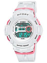 cheap -Men's / Women's Sport Watch Japanese Casual Watch PU Band Casual Black / White / Blue