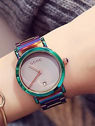 Недорогие -Жен. Дамы Наручные часы Японский Кварцевый Зеленый / Фиолетовый Защита от влаги Календарь Секундомер Аналоговый На каждый день Мода Элегантный стиль Цветной Уникальные творческие часы -  / Два года