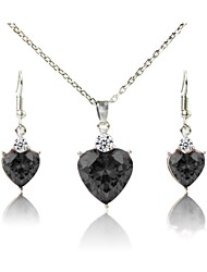 cheap -Women's Jewelry Set - Silver Plated Fashion Include Bridal Jewelry Sets Black For Daily / Evening Party