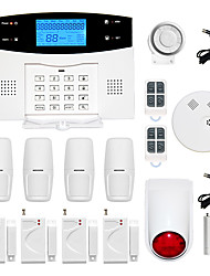 cheap -LCD Wirless GSM/PSTN Home House Office Security Burglar Intruder Alarm System Smoke Alarm System