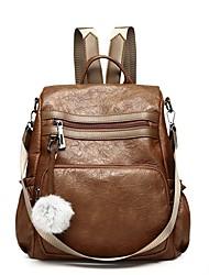 cheap -Unisex Bags PU(Polyurethane) Backpack Zipper / Pocket Brown / Black
