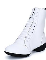"""abordables -Femme Bottes de Danse PU de microfibre synthétique Botte Deli-pointes Extérieur Talon Bas Blanc Noir Rouge 1 """"- 1 3/4"""" Personnalisables"""